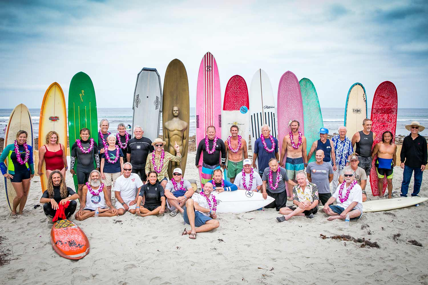 surf legends at the beach
