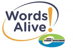 Words alive! Logo and Center for Student Involvement logo